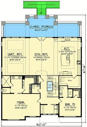 Plan 890067ah Craftsman House Plan For A View Lot House Plans One Story Craftsman House Plan Craftsman House Plans