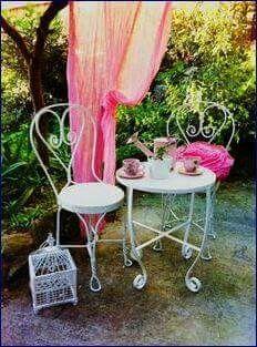 Cool Bohemian M bel Gartenm bel Fairy Garten Feen Garten Tischbeine Metallkunst Schmiedeeisen Caf s Porch Ideas
