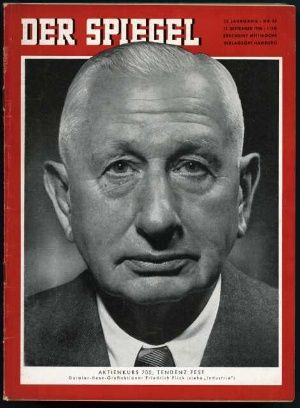 Friedrich Flick on cover of Der Spiegel, 1958, no. 38