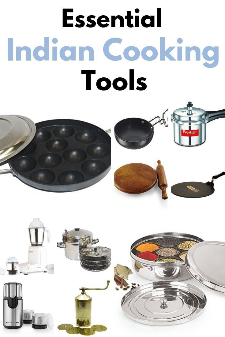 Get The List Of Essential Indian Cooking Equipment In 2020 Koch Utensilien Indische Kochrezepte Kuchenutensilien
