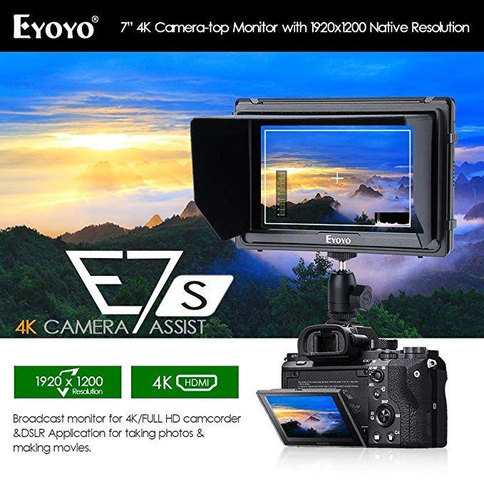 E7S 7 Inch DSLR Camera Field Monitor 1920x1200 IPS Camera