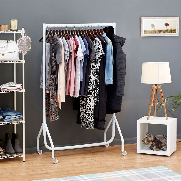 Clothes Rails provide a funky and fun angle to practical clothes storage.