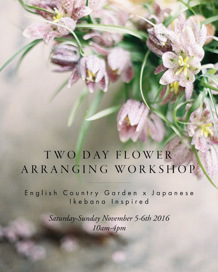 Two Day Flower Arranging Workshop. London. ENGLISH COUNTRY GARDEN X JAPANESE IKEBANA INSPIRED // Photo by @chikaeoh