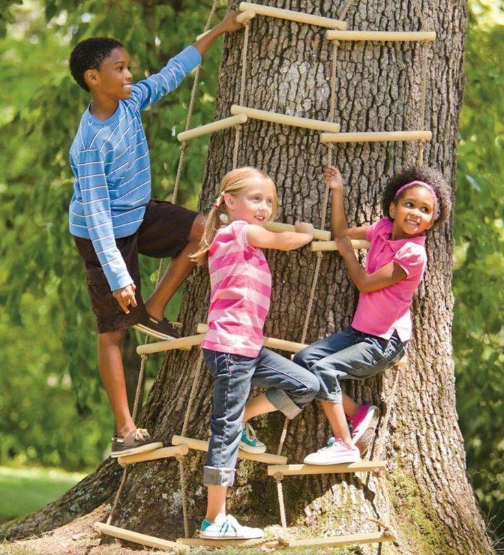 kids #Backyard #kids backyard zipline #Ropes kids zipline ...