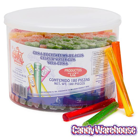 Just+found+Vela+Goma+de+Agua+Gelatin+Water+Gum+Tubes:+180-Piece+Tub+@CandyWarehouse,+Thanks+for+the+#CandyAssist!