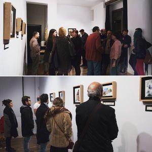 *inauguración de A LA LUNA VA TODO EL MUNDO exposición individual en Espacio B. Lavapiés, Madrid. Del 1 al 6 de Marzo 2016. www.nataliaromay.com