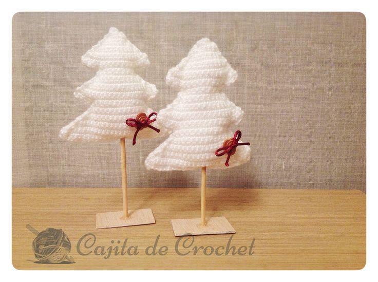 arbol Navidad Blanco amigurumi