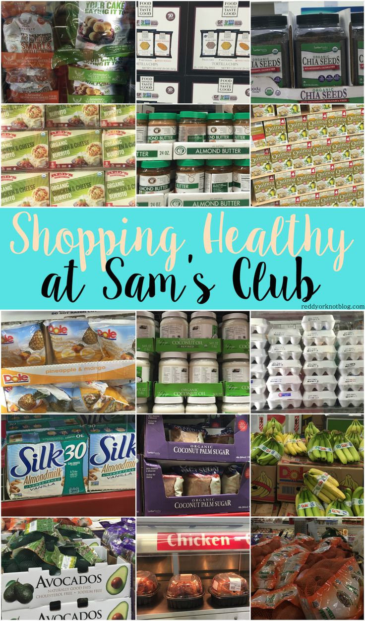 Shopping Healthy At Sam's Club