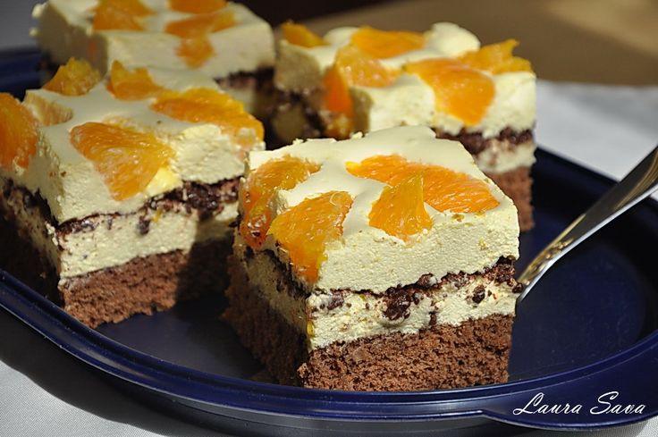 Prajitura diplomat cu portocale si ciocolata