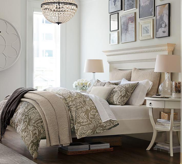 Alessandra Floral Reversible Duvet Cover Sham Gray Master Bedding Pinterest Master