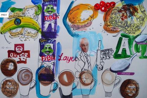 The Food Illustrator project. Foto del sito ufficiale di David Meldrum thefoodillustrator.com