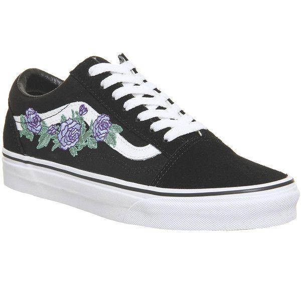 Vans Old Skool Trainers Black Lilac