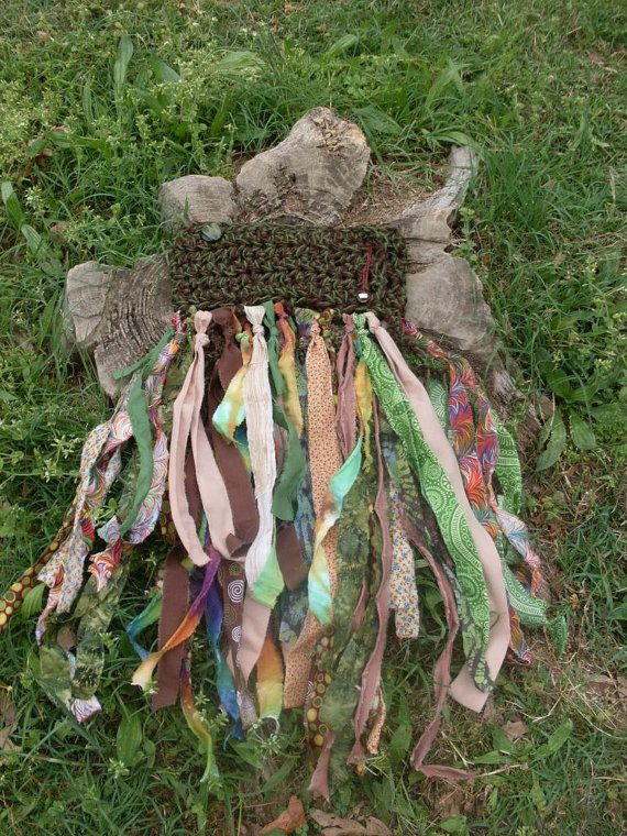 I know how to crochet... I have scraps of fabric. I can't wait to try this! Adjustable Forest / Woodland Fairy Skirt / by PiecefulWorlds