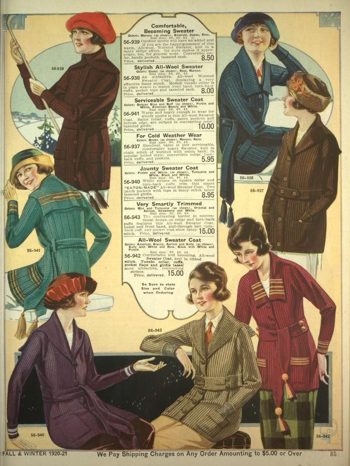 Me in the 1920's - Top left corner.  Eaton's Fall and Winter Catalogue 1920-21