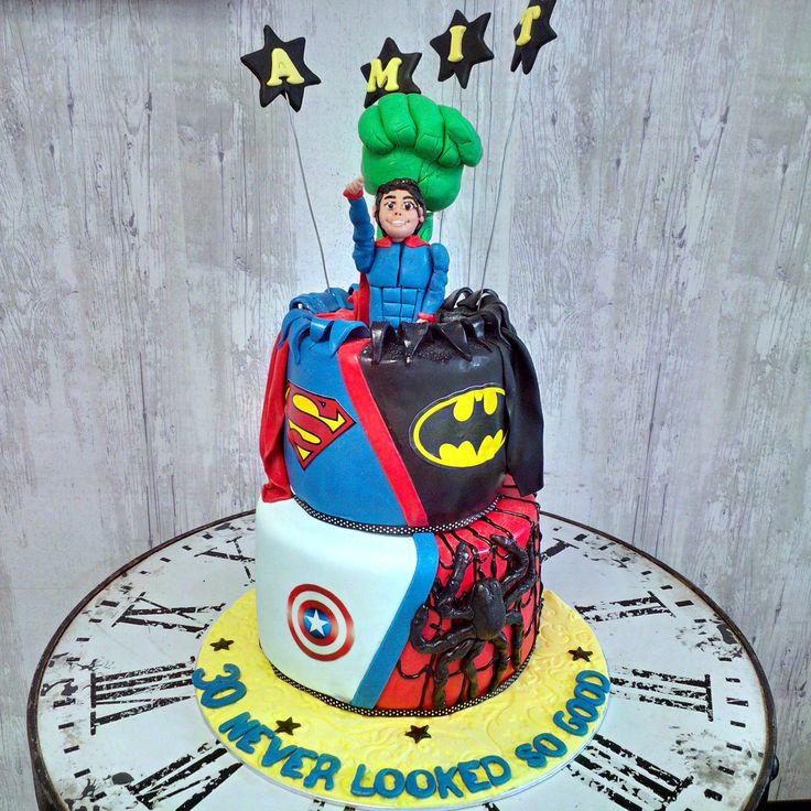 Superhero cake. Which superhero is your favourite?