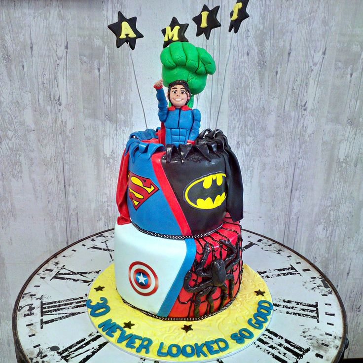 Superhero cake. Which superhero is your favourite?