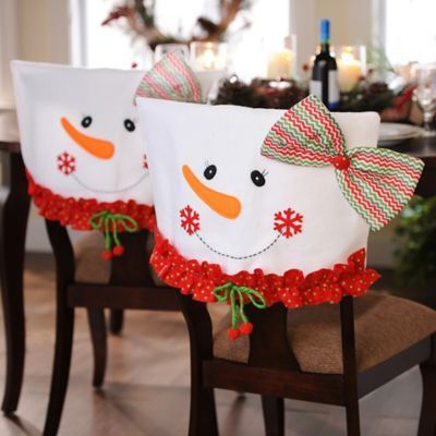 Mrs. Snowman Chair Covers, Set of 2 | Kirklands: