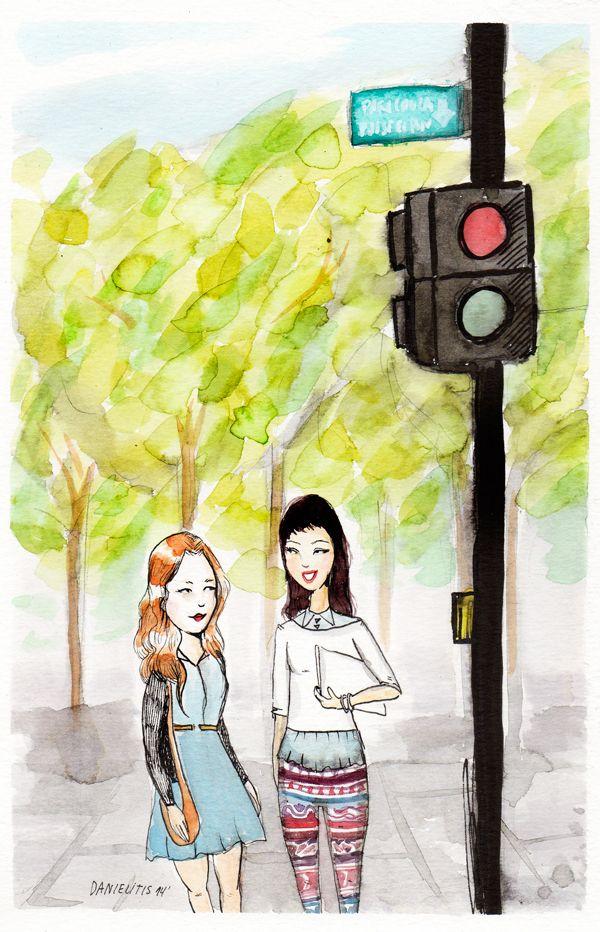 Las conversaciones con amigas durante las caminatas santiaguinas.