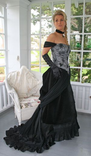Nice Write Up Of Late Victorian Evening Wear Detailed