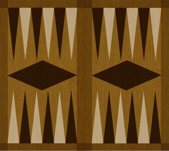 Backgammon speelbord