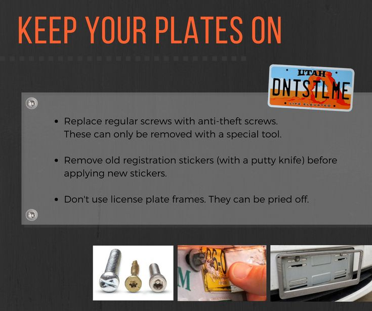 Don't let thieves steal your license plates. Check out these simple tips to avoid license plate theft.