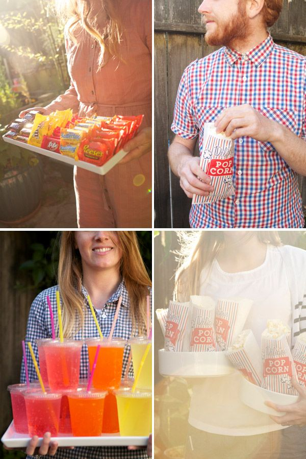 @Alexis Birkmeyer and @Jordan Ferney, you guys are the cutest. Fun idea for an outdoor movie night.