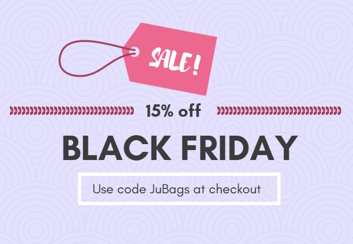 It's permanent Black Friday here at Juberry with our low prices, but now's your chance to get an extra 15% off all orders FRIDAY ONLY! Simply use code JuBags at checkout (Friday 24th November 2017)