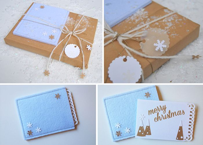 Cards design: customized packaging and card for a Christmas present