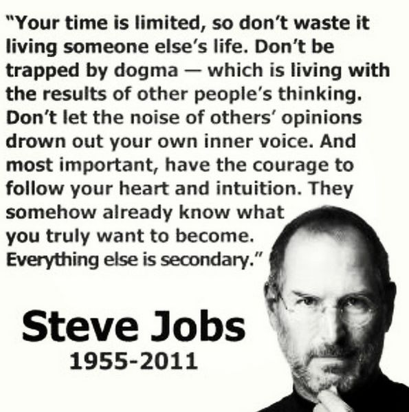 A fantastic quote from Steve Jobs and worth bookmarking right now -> http://stks.co/e27V4 $AAPL