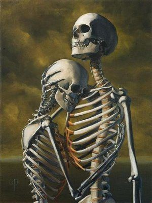 skeleton love...oddly adorable