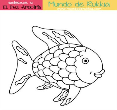 rainbow fish printables - Rainbow Fish Coloring Pages Print