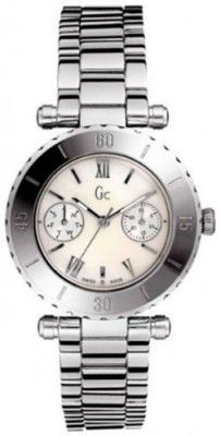 Relógio Guess Women's G20026L1 Silver Stainless-Steel Quartz Watch with Mother-Of-Pearl Dial #Relogios #Guess