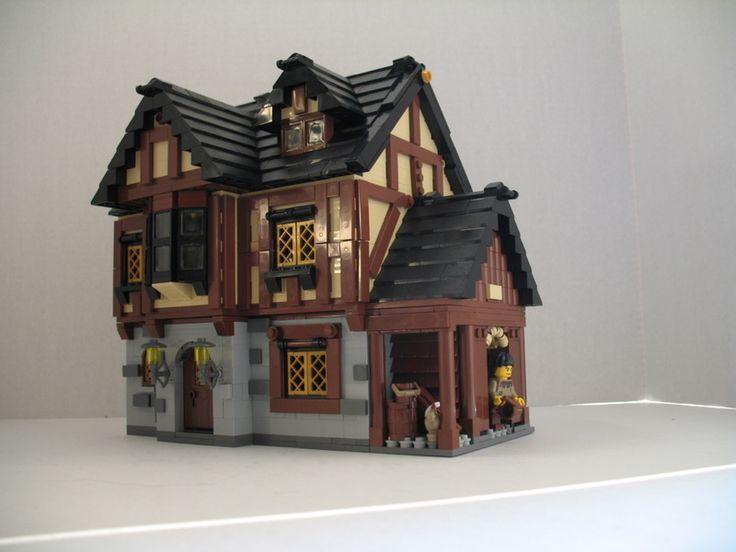 lego castle moc | LEGO MOC: Village Houses