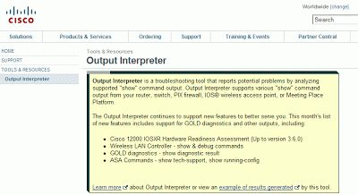 Monitoreo de Red y Computación: Output Interpreter de Cisco para solucionar posibl...