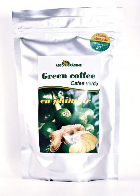 Cafea verde cu ghimbir - 150 g - accelerează metabolismul, facilitează arderea grăsimilor și eliminarea toxinelor din organism într-un mod natural. Din acest motiv este preferată de cei care caută să scape de kilogramele în plus.