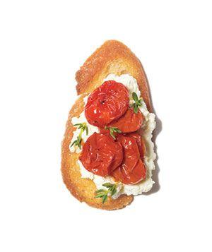 Garlic Tomato Crostini With Ricotta Recipes — Dishmaps