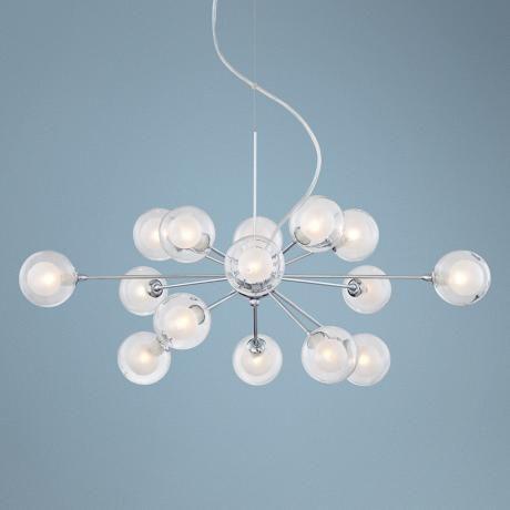 Possini Euro Design Glass Sphere 15 Light Pendant