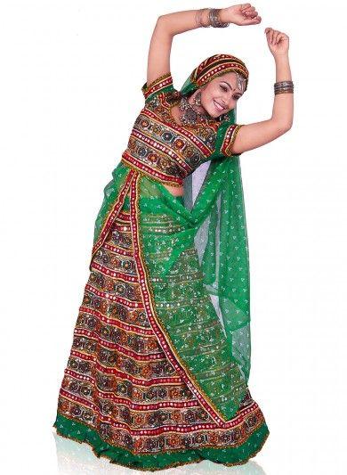 Multicolor Cotton Ghagra Choli