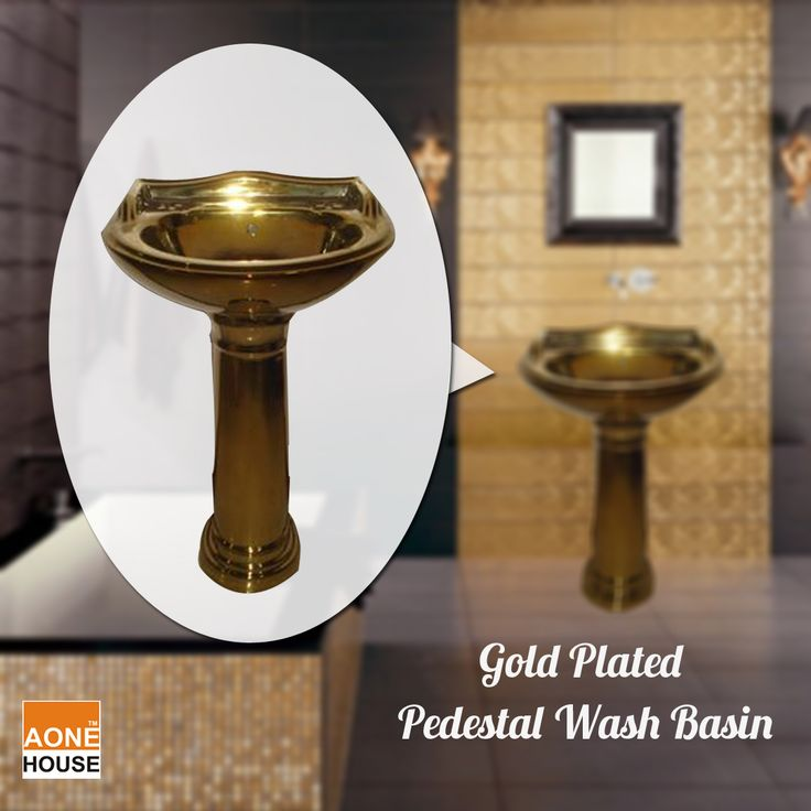 Buy decorative Gold Plated Pedestal Wash Basin From www.aonehouse.com