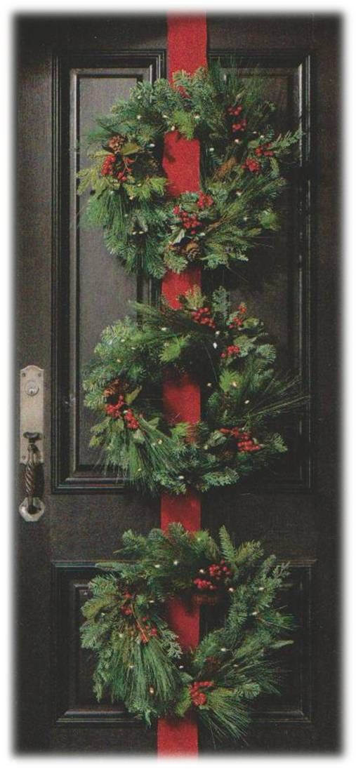 The Browns created beautiful warm Christmas Wreaths for their door to welcome their friends at Christmas!