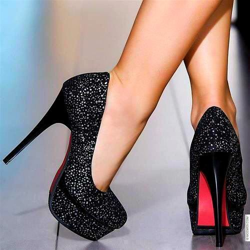 2015 women pumps thin high heeled shoes heels sexy 14cm red bottoms shoes…