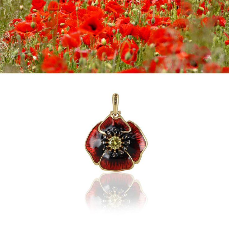 Коллекция Вальс цветов, Кулон Серебро 925°, эмаль, золочение
