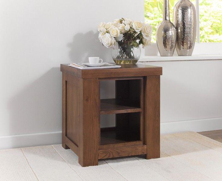 Kentucky Dark Solid Oak Lamp Table. Dark Oak FurnitureOak Living Room ... Part 46