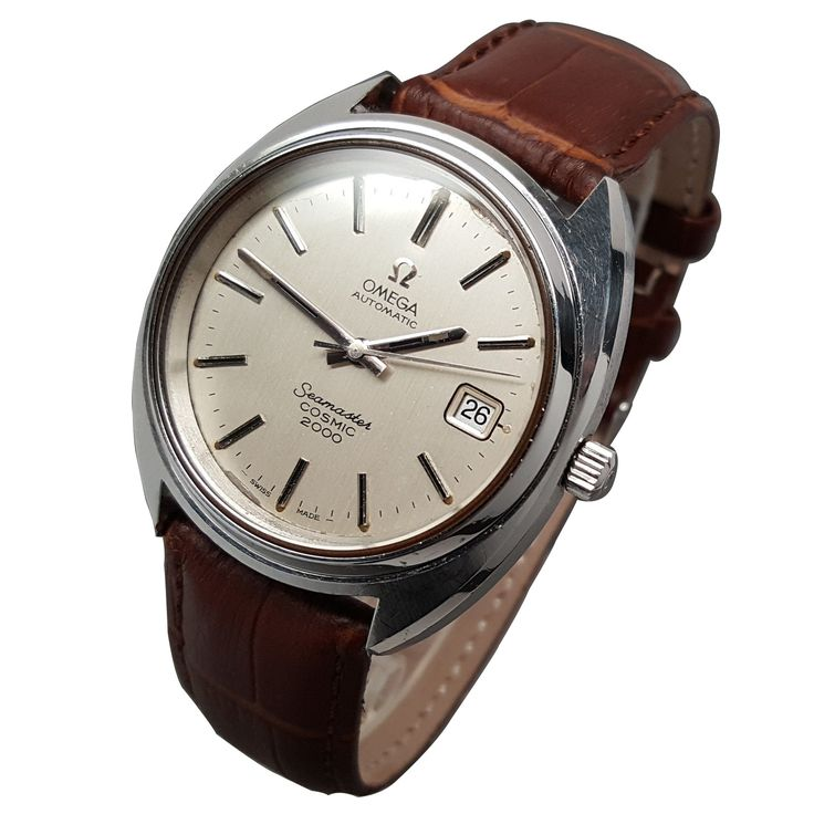 1970s Omega Seamaster Cosmic 2000 Automatic Date Caliber 1012 Dive Watch