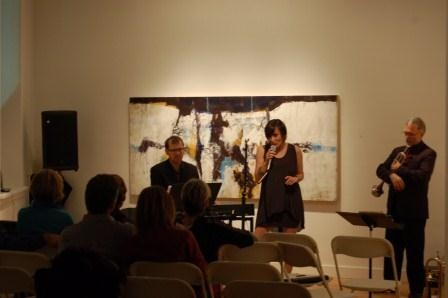 Monika Loewen Wall Trio in concert at the gallery. November 2012