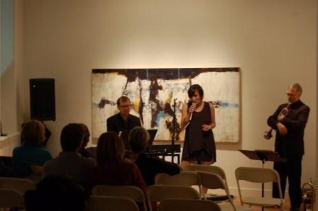 Monika Loewen Wall Trio in concert at the gallery. November 2012