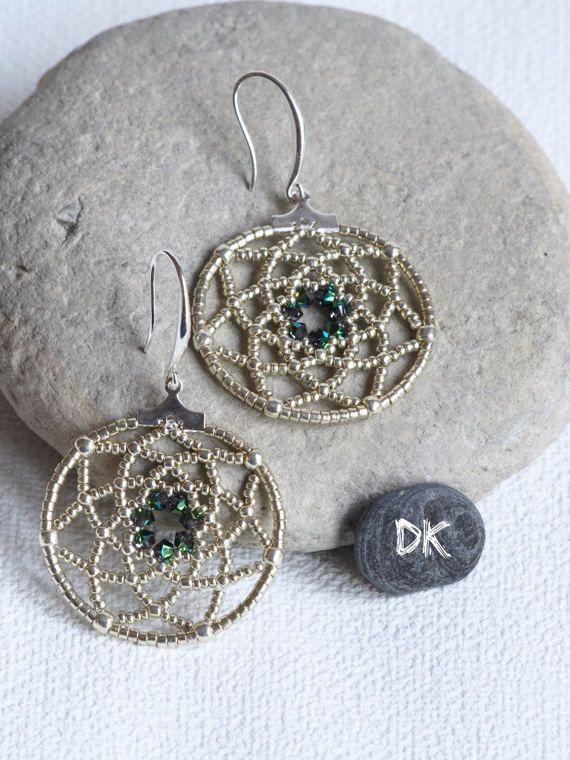 boucles doreilles créoles bijou argenté boucles par DKreationKitti