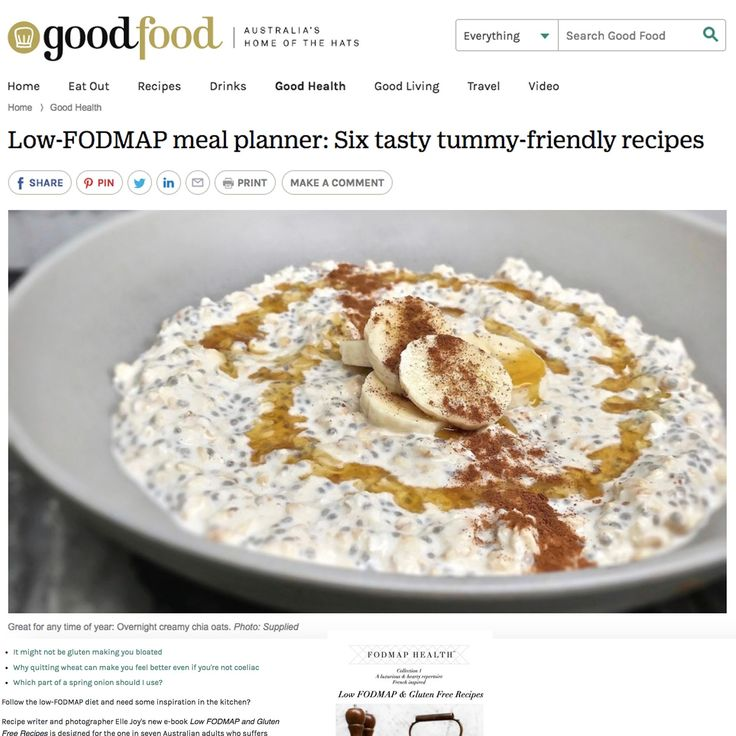 Low FODMAP 6 Free recipes Good Food online!  Gluten Free  Wheat Free