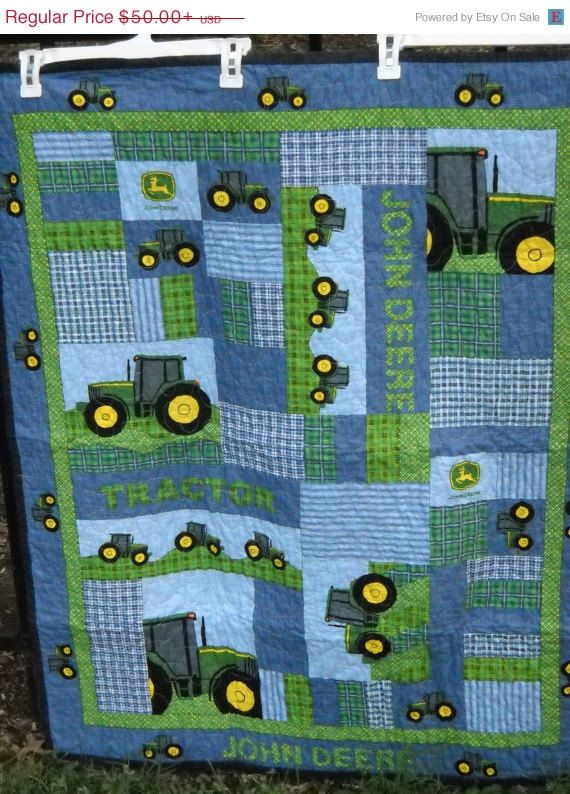 It's John Deere Country  Tractors Everywhere by QuiltsForU2, $50.00
