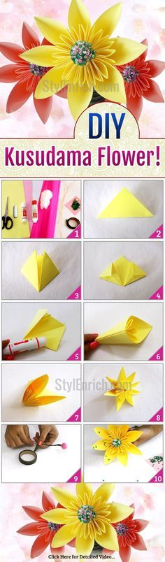 48 best origami paper images on pinterest crafts paper flowers want to know how to make beautiful super easy here are the step by step instructions to understand how to make easy paper flowers mightylinksfo
